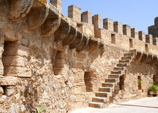 Fortress Wall. The wall of a historical fortress Royalty Free Stock Photo