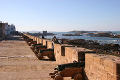 Fortress wall. Essaouira, Morocco royalty free stock image