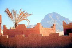 Fortress wall against the blue sky Royalty Free Stock Photography
