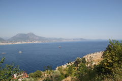 Fortress wall in Alanya Stock Photography