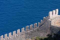 Fortress wall in Alanya Turkey Stock Photography