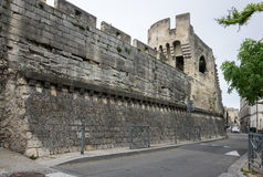 Fortress wall in Avignon royalty free stock photo