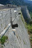 Fortress wall with cannons Royalty Free Stock Image