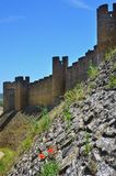 The wall of the castle at Tomar, Portugal Royalty Free Stock Images