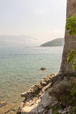 Fortress wall on the coast in Budva, Montenegro Royalty Free Stock Image
