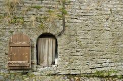 Fortress Wall And Door. Estonia-Tallinn Old Town-Fortress Wall And Door Stock Image