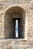 Fortress Wall With Embrasure royalty free stock photo
