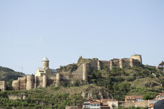 Fortress wall in Georgia. Ancient fortress wall in Georgia Tbilisi Stock Photography