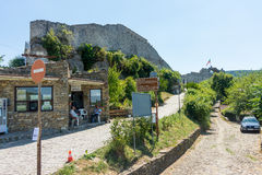 Fortress wall in Hissar town of Lovech in Bulgaria royalty free stock image