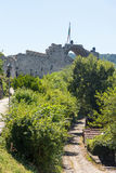 Fortress wall in Hissar town of Lovech in Bulgaria stock photography