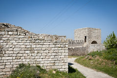 Fortress wall at Kaliakra cape in Bulgaria Stock Photo