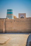 Fortress wall in Khiva Stock Image