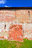Fortress wall of Kirillo-Belozersky monastery by day. Royalty Free Stock Photos