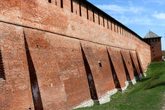 Fortress. Wall of the Kolomna Kremlin, Moscow region, Russia Royalty Free Stock Images