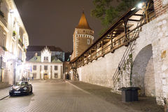 Fortress wall. In Krakow, paving stone Stock Images