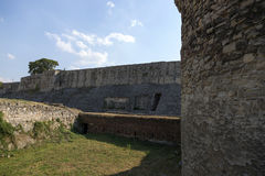 The fortress wall and the moat of the Belgrade Fortress, Serbia. Royalty Free Stock Images