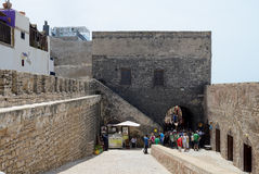 Fortress wall morocco Royalty Free Stock Photos