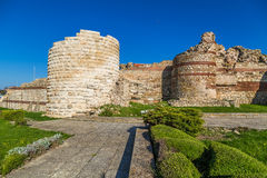 Fortress wall of the old town of Nessebar Royalty Free Stock Photo