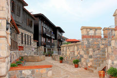 Fortress wall in the old town of Sozopol, Bulgaria Royalty Free Stock Photo