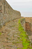 Fortress wall. The platform at the top of the fortress wall Royalty Free Stock Photo