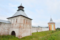 Fortress wall of Saviour Priluki Monastery. Stock Images