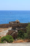 Fortress wall and sea Stock Images