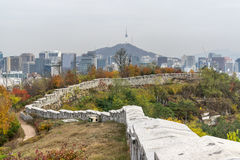 Fortress wall of Seoul Royalty Free Stock Image
