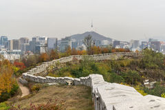 Fortress wall of Seoul Stock Image