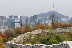 Fortress wall of Seoul Stock Photos