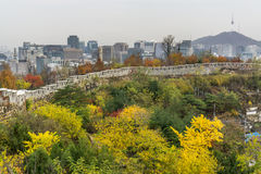 Fortress wall of Seoul Royalty Free Stock Photography