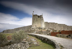 The fortress wall of Sortelha village Stock Photography