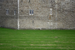 Fortress wall. Stone wall of a middle ages fortress Stock Photography