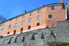 Fortress wall in Tallinn. Royalty Free Stock Images