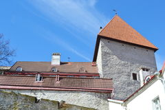 Fortress wall in Tallinn. Stock Images