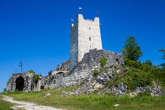 Fortress wall and tower of the ancient castle Royalty Free Stock Images