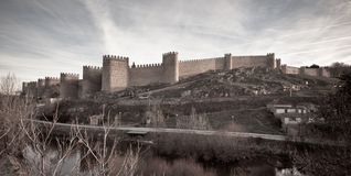 Fortress wall and towers in Avila Royalty Free Stock Image
