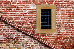 Fortress wall with window and stair Royalty Free Stock Image