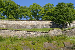 Fortress walls. A picture of a section of the walls of the Akershus fortress in Oslo Stock Photos