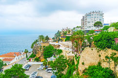 The fortress walls in Antalya Stock Images
