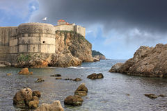 The fortress walls of Dubrovnik, Croatia Royalty Free Stock Photo