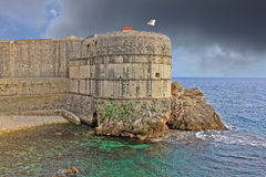 The fortress walls of Dubrovnik, Croatia Stock Images
