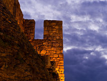 Fortress walls and heavy clouds Stock Image