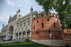 Fortress walls in Kitai-gorod in Moscow royalty free stock photo