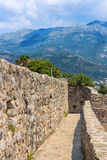 Fortress walls in the old town of Budva Royalty Free Stock Photography