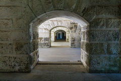 Fortress walls and passages Royalty Free Stock Images