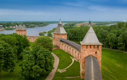 Fortress walls and towers Stock Image