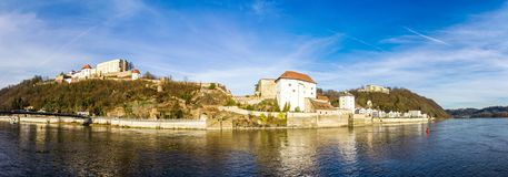 Fortress that was founded in 1219, Passau, Germany Royalty Free Stock Images