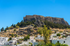 Fortress was not a mountain in Greece Rhodes Royalty Free Stock Images