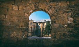Fortress window Stock Photo