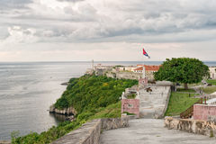 The fortresses of El Morro and La Cabaña in Havana Stock Photography